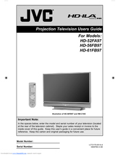 jvc hd 61fb97 61 rear projection tv manuals rh manualslib com jvc projection tv manual hd 52z575 JVC Projection TV Problems