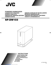 JVC SP-DW103AT Instructions Manual