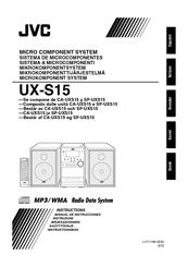 JVC SP-UXS15 Instruction Manual