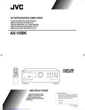 JVC AX-V5BK Instructions Manual