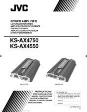 JVC AX4750 - Amplifier Instructions Manual