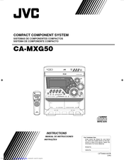 JVC CA-MXG50 Instructions Manual