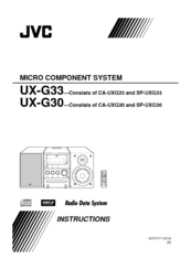 JVC SP-UXG33 Instructions Manual