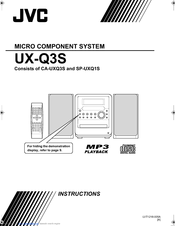 JVC CA-UXQ3S Instructions Manual