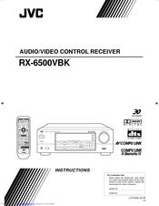 Jvc RX-6500VBK - Dolby Digital/DTS Audio/Video Receiver Manuals