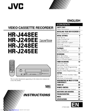 JVC HR-J245EE Instructions Manual