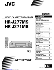 JVC HR-J271MS Instructions Manual