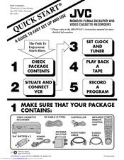 JVC HR-DVS1U Quick Start Manual