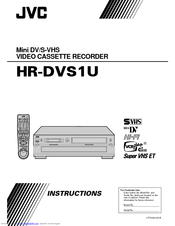 JVC HR-DVS1U Instructions Manual