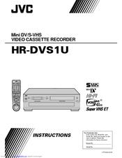JVC HR-DVS1U Instructions Manual