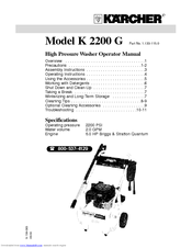 K 228 Rcher K 2200 G Manuals