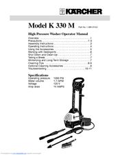 karcher k 330 m manuals rh manualslib com karcher 330 m service manual Karcher Service Manuals K5.65