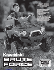 new style 25e61 8b2bd Manuals and User Guides for Power Wheels Kawasaki BRUTE FORCE R8126. We  have 1 Power Wheels Kawasaki BRUTE FORCE R8126 manual available for free  PDF ...