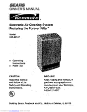 Kenmore 147 Owner's Manual