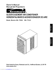 Kenmore 580.75123 Owner's Manual