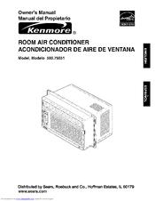 kenmore 580 75051 owner s manual pdf download rh manualslib com Kenmore Model 5807508500 Air Conditioner Kenmore Air Conditioner Problems