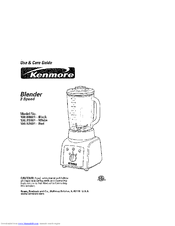Kenmore 100.80001 Use And Care Manual