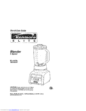 Kenmore 100.90001 Use And Care Manual