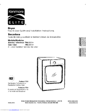 Kenmore ELITE 796.9051 Series Use And Care Manual