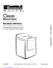 Kenmore Elite Oasis 110.6703 Series Use & Care Manual