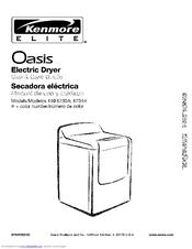 kenmore elite oasis 110 6703 series use care manual pdf download