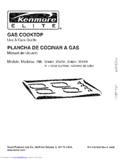Kenmore 3245 - Elite 36 in. Gas Cooktop Use And Care Manual