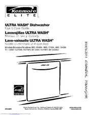 Kenmore 665.1648 Series Use & Care Manual