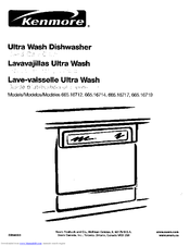 Kenmore Ultra Wash 665.16717 Use & Care Manual