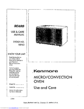 Kenmore SEARS 88963 Use And Care Manual