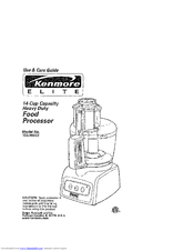 Kenmore 100.90002 Use And Care Manual