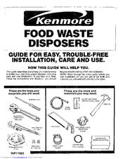 Kenmore 175.6012 Installation & Use Manual