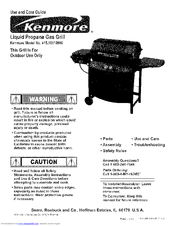 kenmore 464722309 2 burner gas grill manuals rh manualslib com kenmore gas grill burner assembly kenmore gas grill parts manual