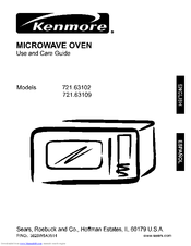 Kenmore 721 63109 Manuals