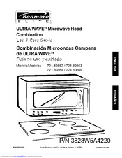 Kenmore Elite Ultra Wave 721 80864 Manuals