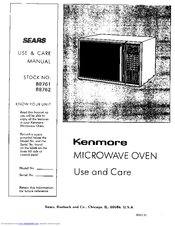 Kenmore 88762 Use And Care Manual