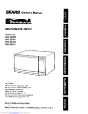 Kenmore 565.68301 Owner's Manual