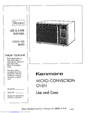 KENMORE MICROWAVE OVEN USE AND CARE MANUAL Pdf Download