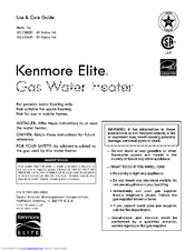 Kenmore 153.332640 Use And Care Manual