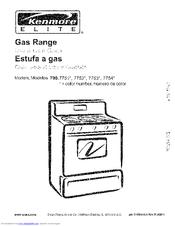 Kenmore 7751 Elite 30 In Gas Range Manuals