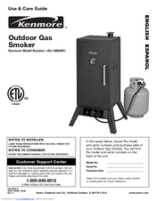 Kenmore 125.15884801 Use And Care Manual