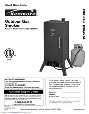 kenmore 125 15884801 manuals rh manualslib com Vertical Smokers Kenmore Grill with Smoker