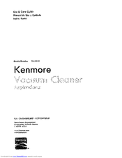 Kenmore 1!6O31040 Use And Care Manual