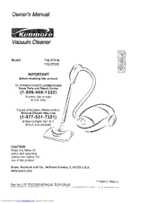 kenmore 27514 canister vacuum manuals rh manualslib com Kenmore Cyclonic Technology Vacuum Belt Kenmore Vacuum Model 116