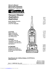 Kenmore 216.3701 Owner's Manual