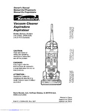 Kenmore 216.37035 Owner's Manual