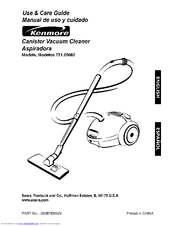 kenmore 26082 canister vacuum yellow manuals rh manualslib com kenmore canister vacuum instruction manual kenmore canister vacuum user manual