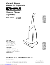 kenmore 35922 progressive upright vacuum manuals rh manualslib com kenmore progressive upright vacuum repair manual kenmore progressive upright vacuum model 116 owners manual