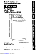 kenmore 110 29882890 owner s manual and installation instructions rh manualslib com kenmore washer model 110 manual kenmore washer 110 manual