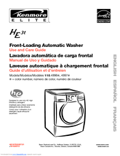 Kenmore HE3t - Elite Steam 4.0 cu. Ft Use And Care Manual