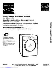 kenmore 4027 4 0 cu ft front load washer manuals rh manualslib com kenmore elite front load washer manual kenmore front loading washer manual